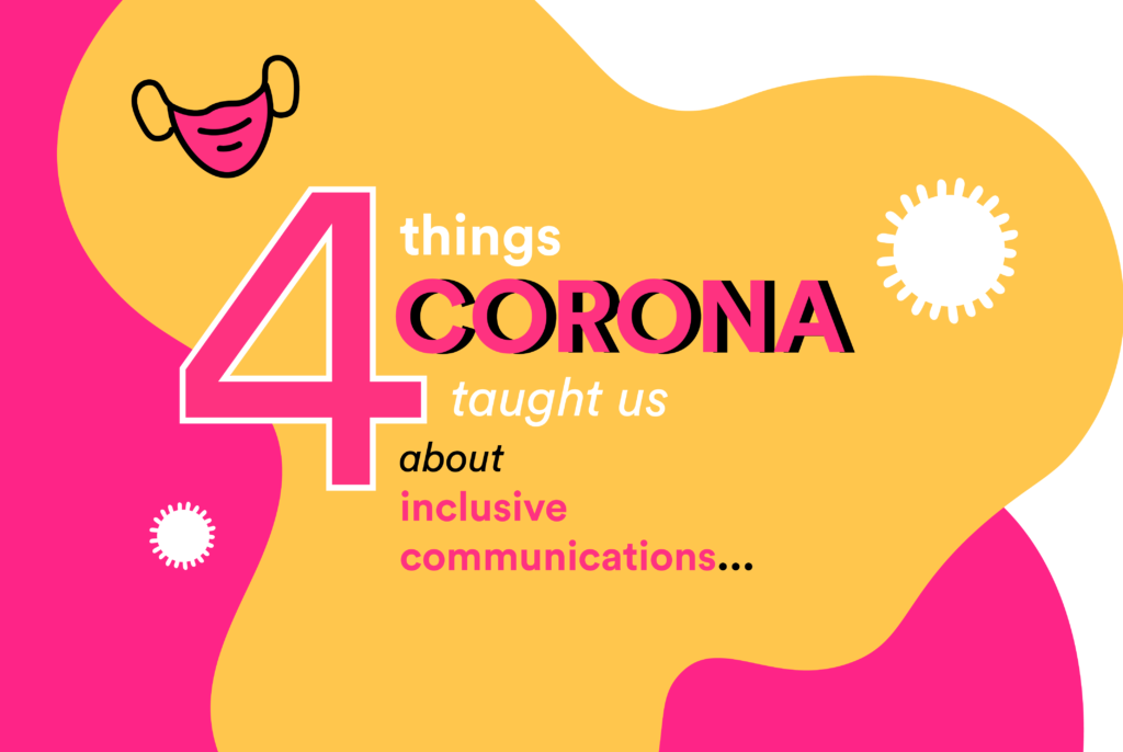 Corona and inclusive communication: 4 tips to remember